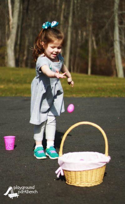 easter basket egg toss