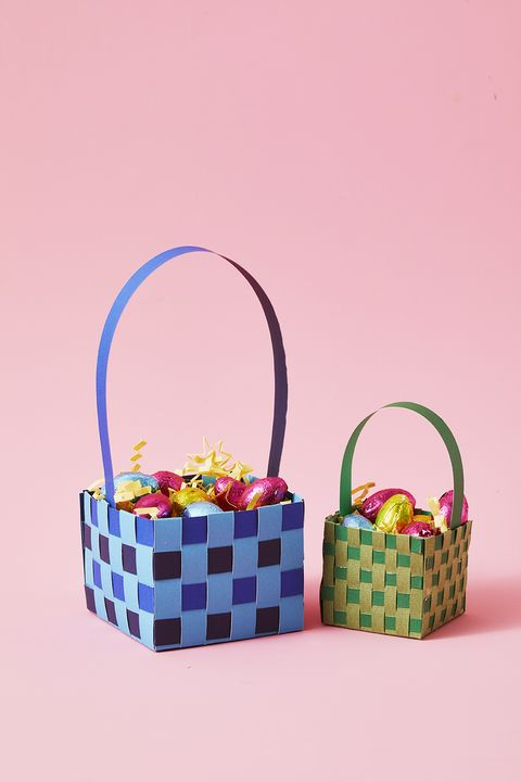 easter basket ideas -woven paper basketGHK