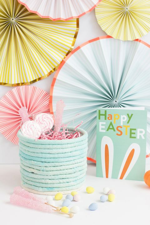 easter basket ideas- rope basket