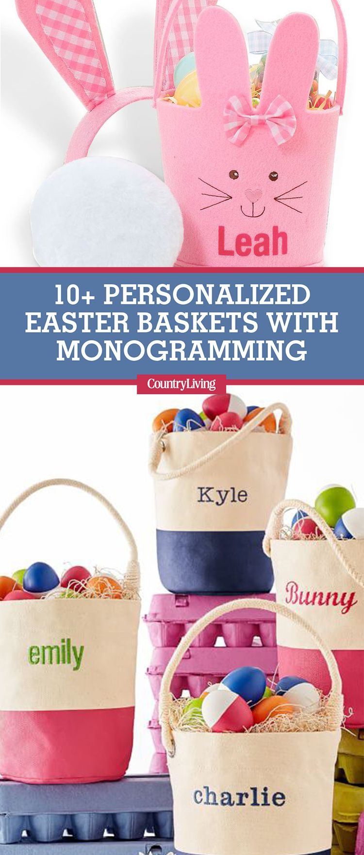 12 personalized easter baskets cute monogrammed easter basket ideas negle Gallery