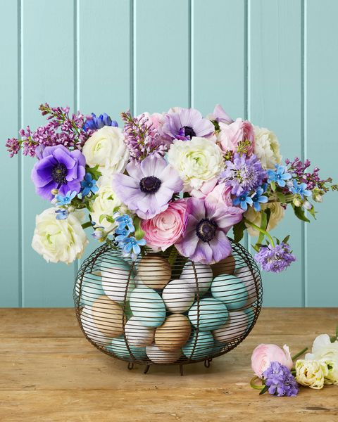 egg basket vase