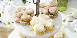easter brunch flower shaped tea sandwiches