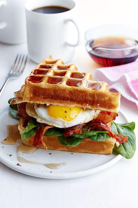 easter-brunch-ideas-Buttermilk Waffle, Bacon and Egg Sandwich