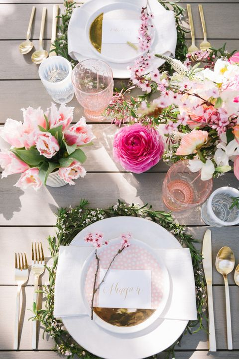 Floral Wreath Table Decorations