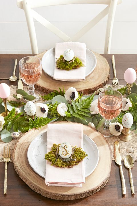 Easter Table Decorations Woodland Themed Tablescape