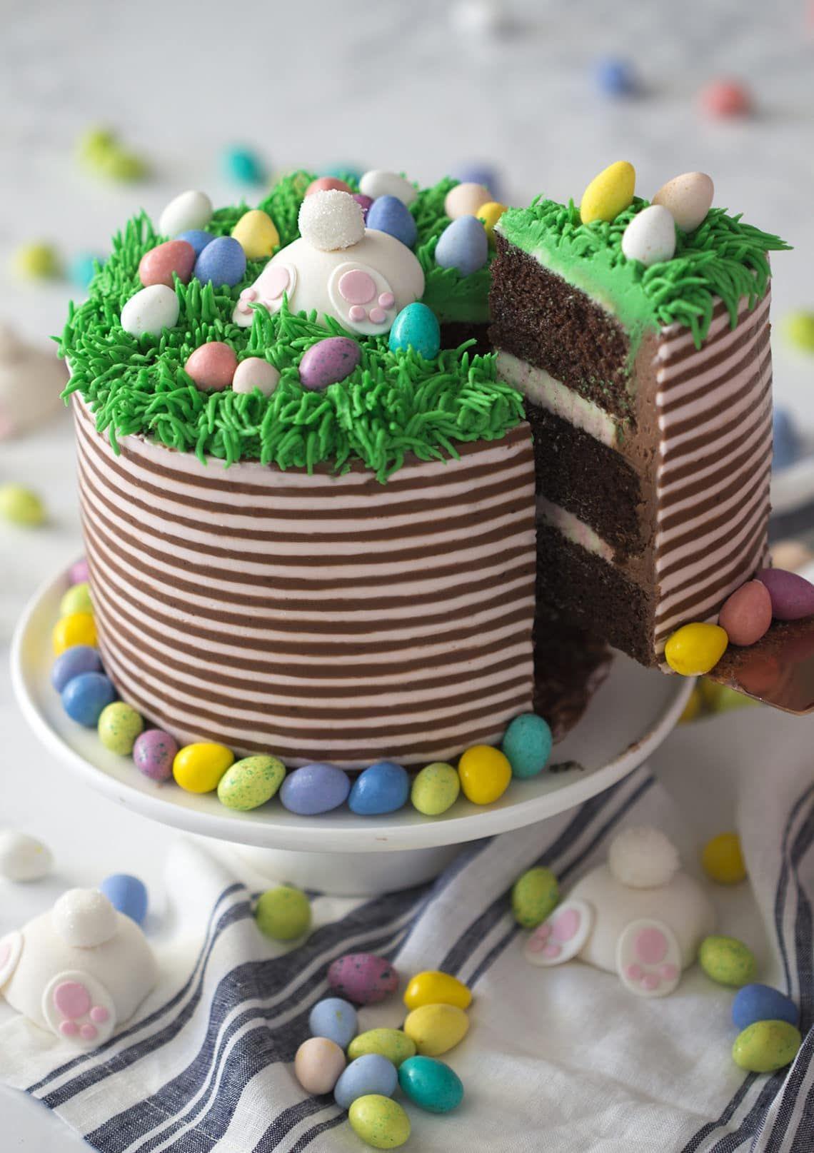easter bunny cake butt