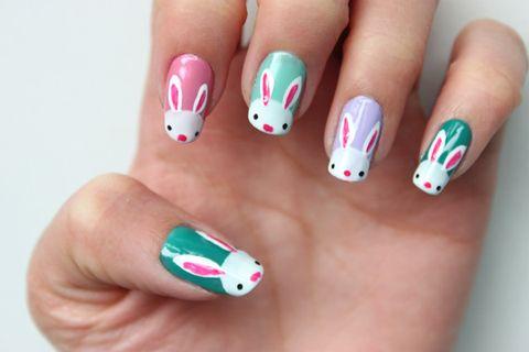 easter bunny diy nail polish design
