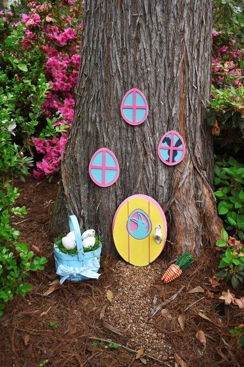 easter bunny tree hideaway