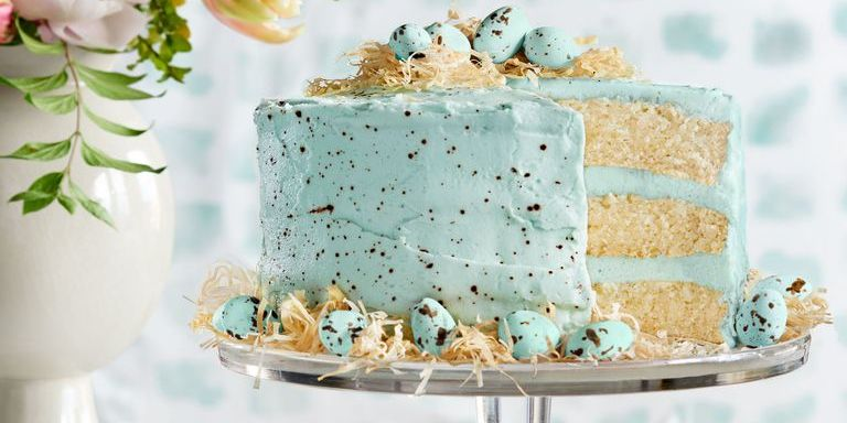 This Speckled Coconut Cake with Chocolate Eggs Is Perfect for Easter