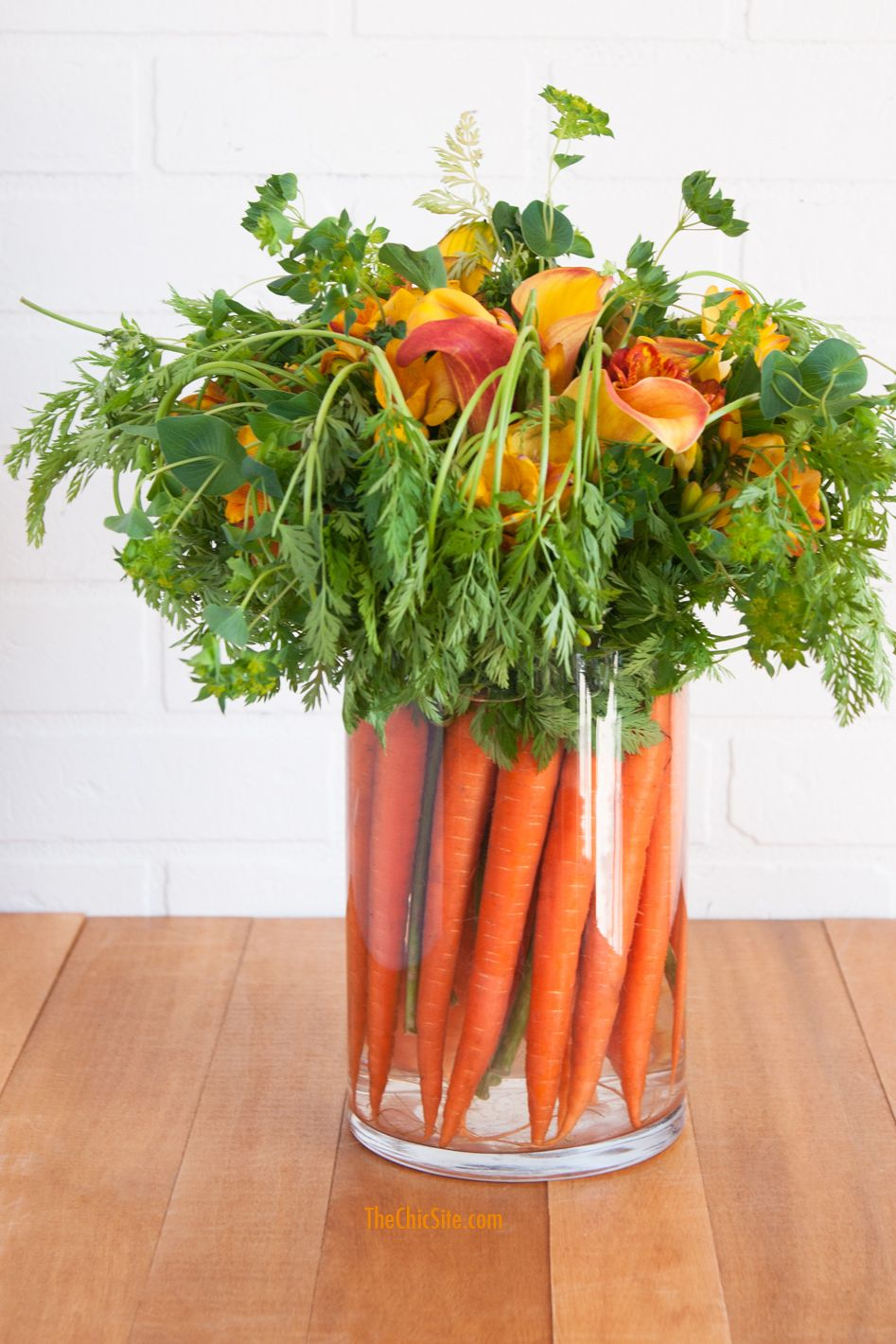 easter carrot centerpiece