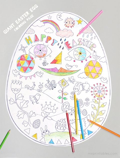 Easter Egg Coloring Pages (Free Printable Easter Egg Coloring Book) | 630x480