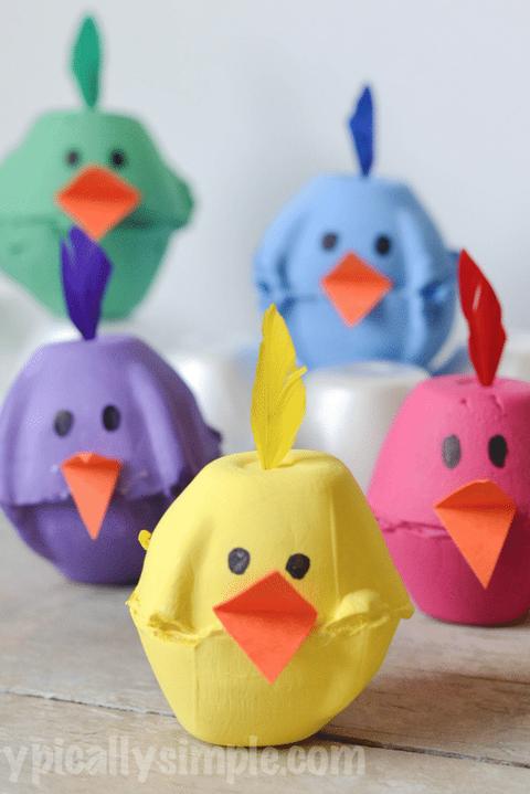 Easter Crafts Egg Carton Spring Chicks Easy DIY for Kids