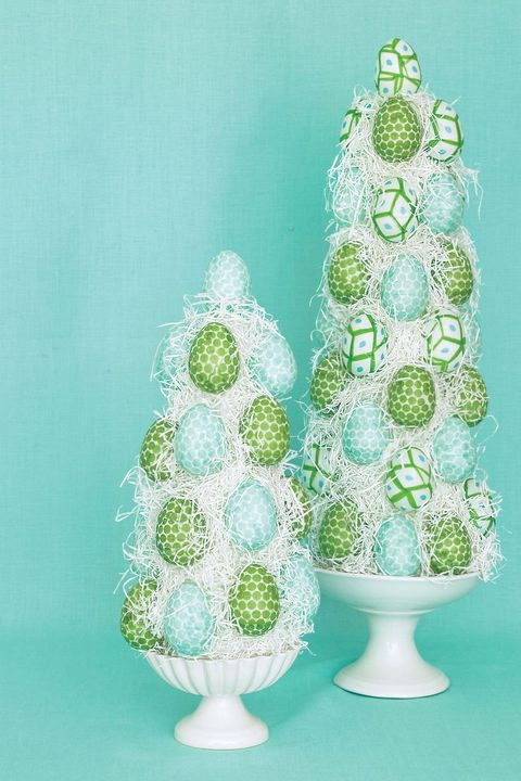 easter crafts egg topiaries
