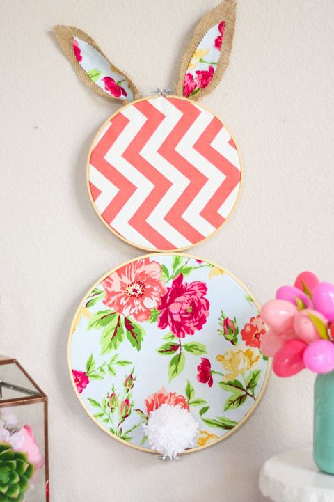 easter crafts i- embroidery hoop bunny