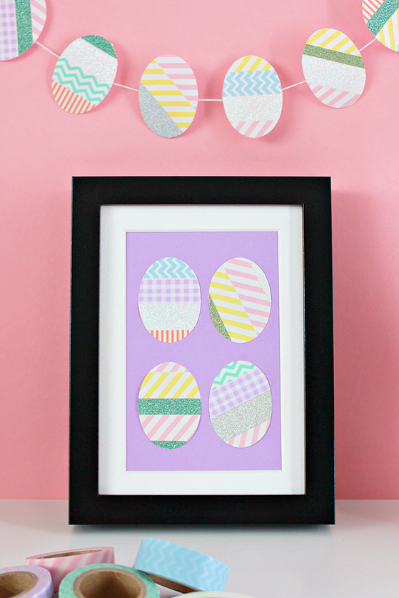 Easter Crafts Egg Decorations with Washi Tape Easy DIY for Kids