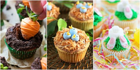 16 Cute Easter Cupcake Ideas - Decorating & Recipes for Easter Cupcakes