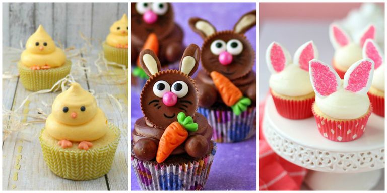 22 cute easter cupcakes easy ideas for easter cupcake recipes for Cute cupcake decorating ideas for easter