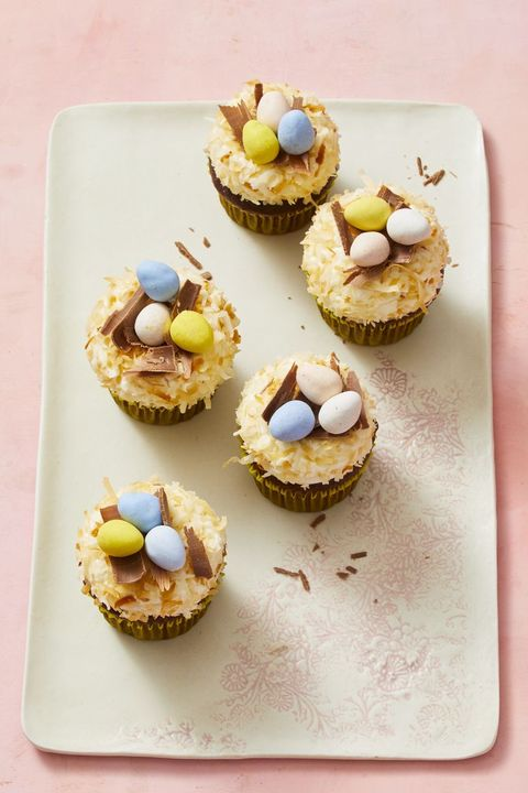 easter cupcakes - easter egg nest cupcakes