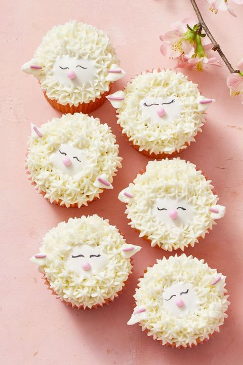 easter cupcakes - sheep cupcakes