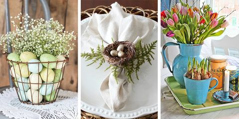 40 Beautiful Easter Decoration Ideas - Easter Wreaths, Flower ...