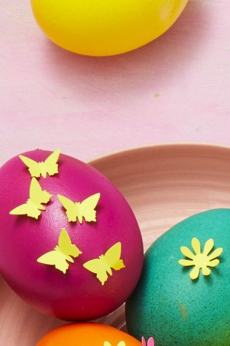 paper punch easter eggs