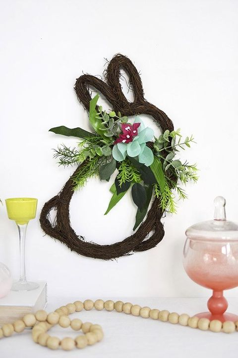 easter decorations grapevine bunny wreath