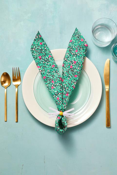 Easter Decorations Easy Napkin Bunny Ears