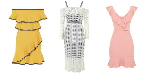 Clothing, Day dress, White, Dress, Yellow, Sleeveless shirt, Cover-up, Cocktail dress, Pattern, One-piece garment,
