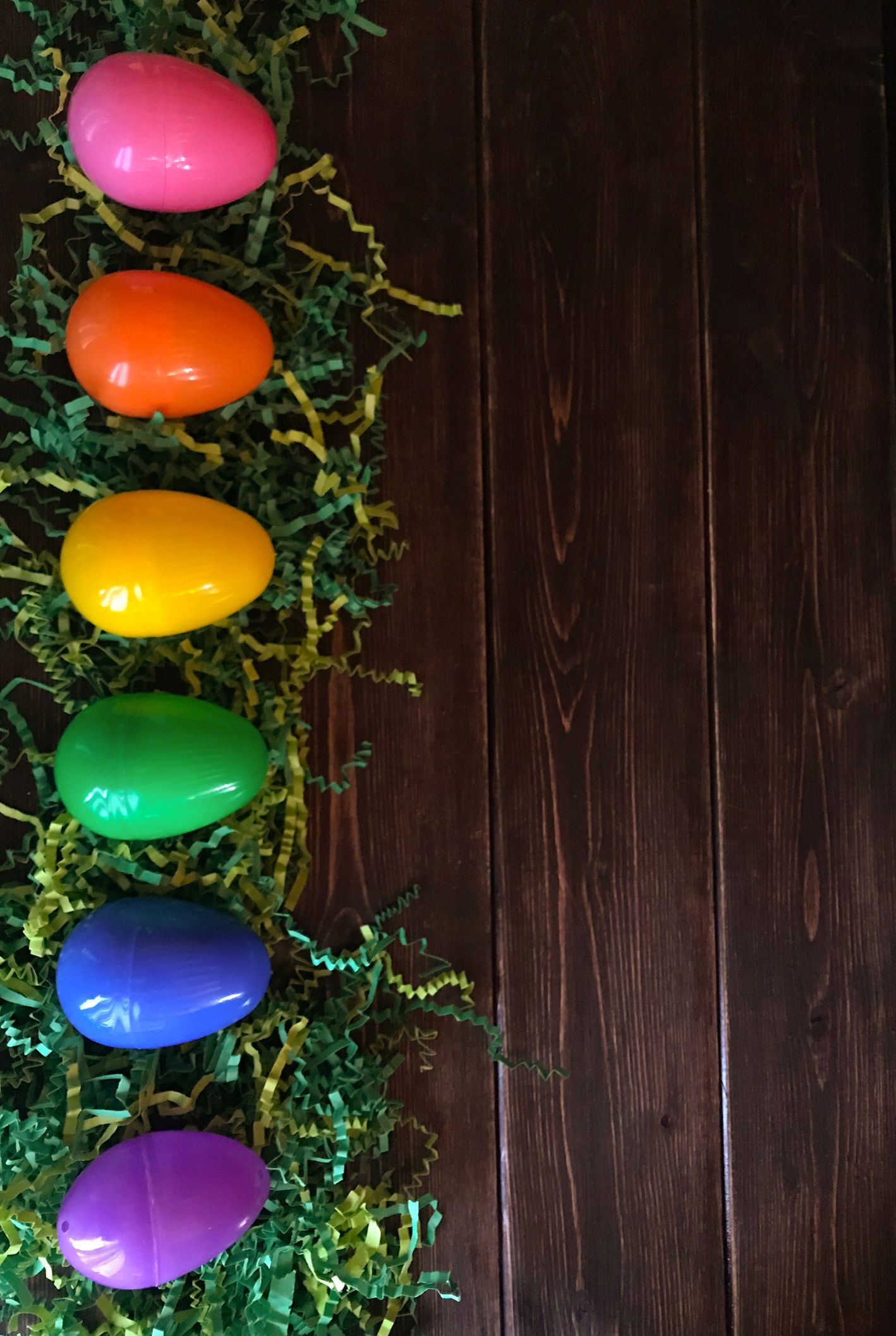 SET of 2 Wooden Pastel EASTER EGG HANGING Tree BRANCH Decorations Hunt Gift