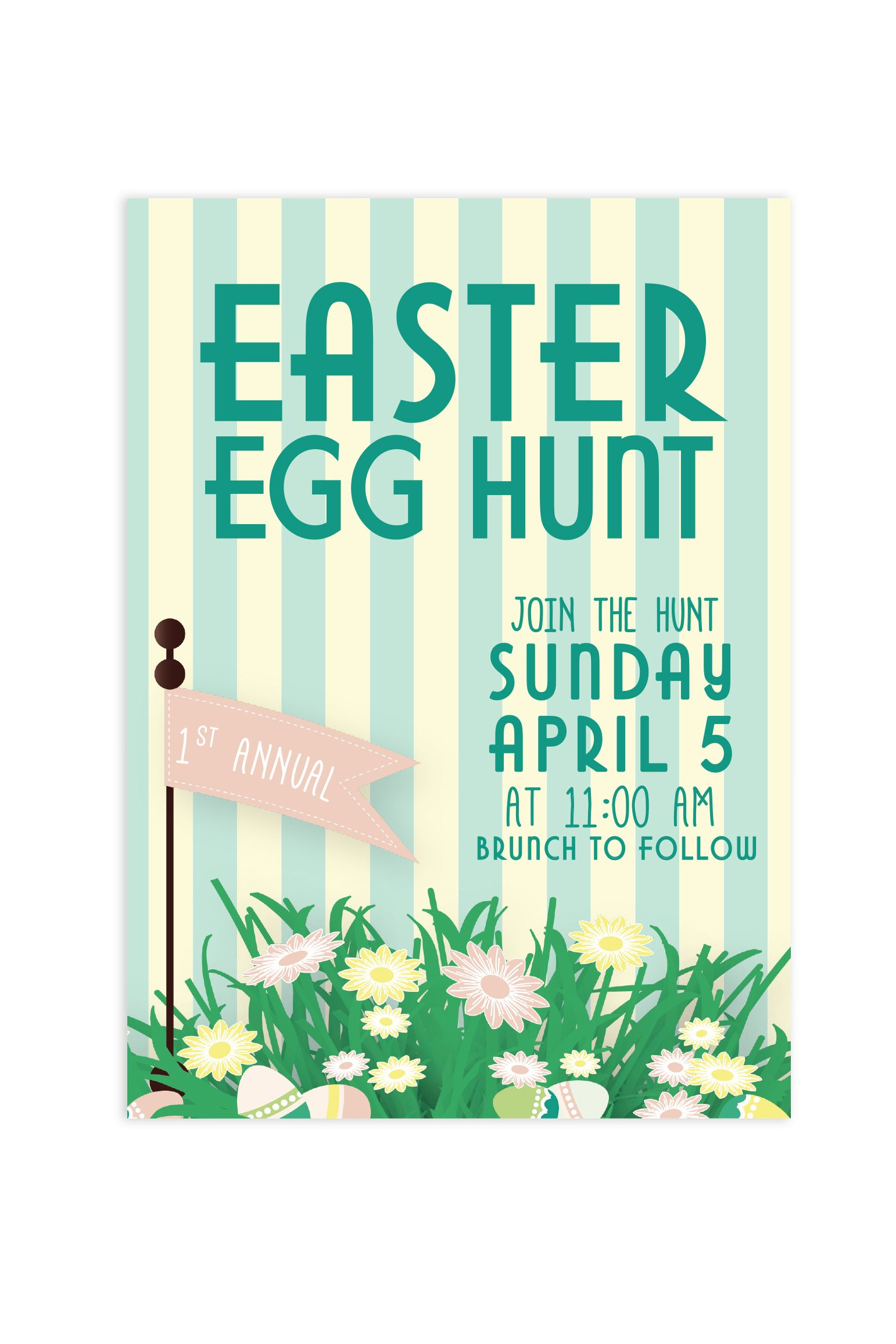 free easter egg hunt invitations