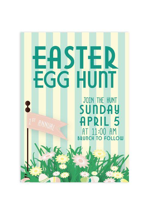 free easter egg hunt invitations