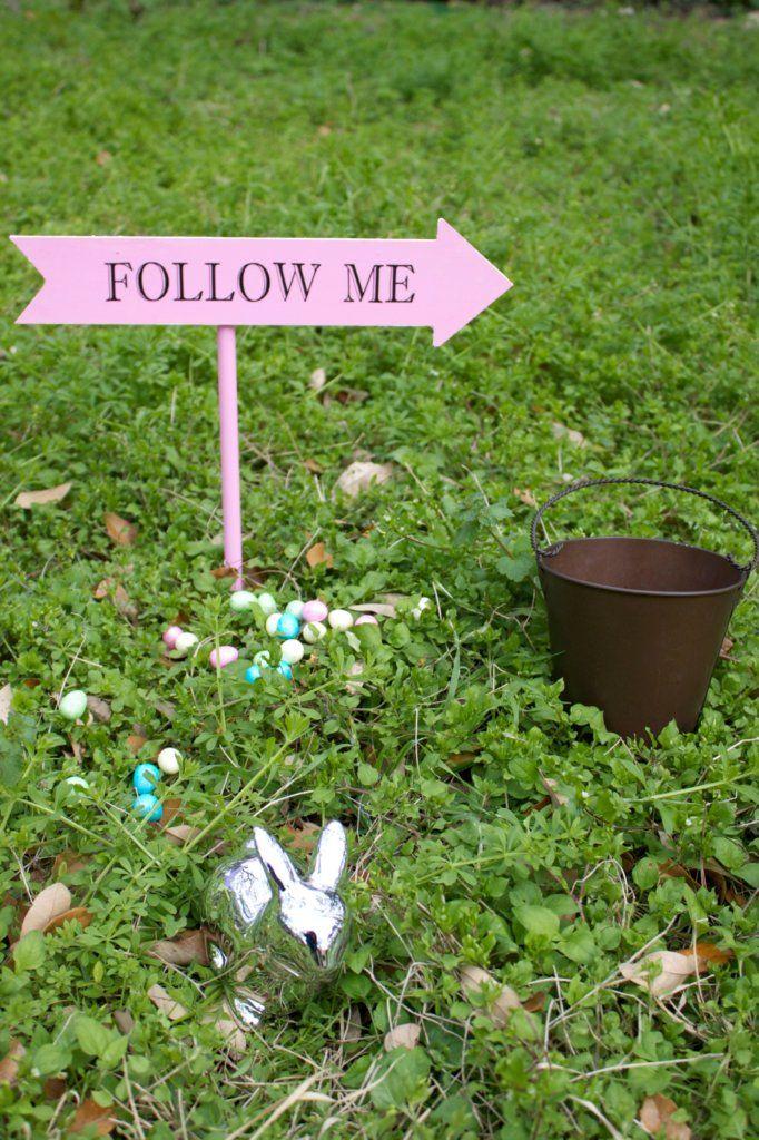 3 x Easter Egg Hunt Signs Garden Lawn Signs Yard Signs for Easter Egg Hunts
