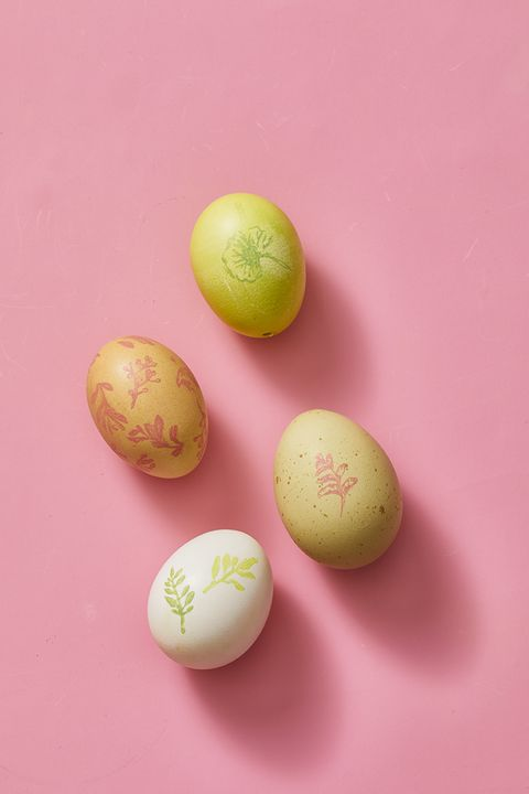 easter egg ideas - chalk stamped eggs