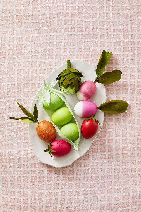 easter egg ideas - vegetable easter eggs
