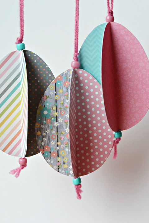 large easter egg origami ornaments