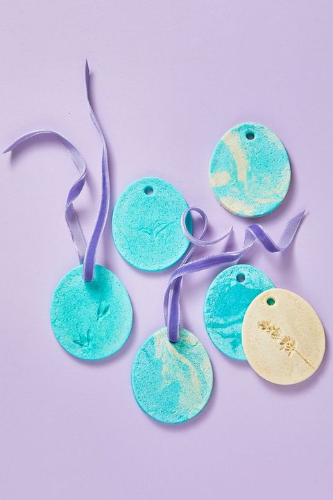 diy easter trees salt dough ornaments