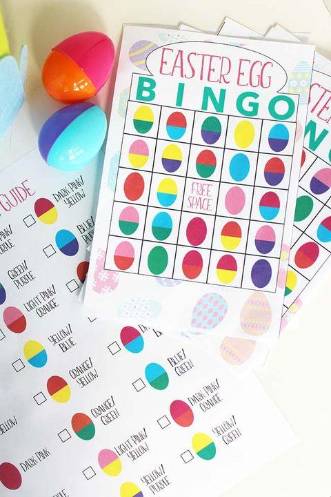 easter egg bingo easter game