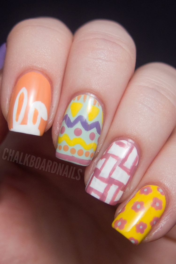 - 10 Cute Easter Nail Designs 2018 - Easy Nail Polish Art Ideas For Easter