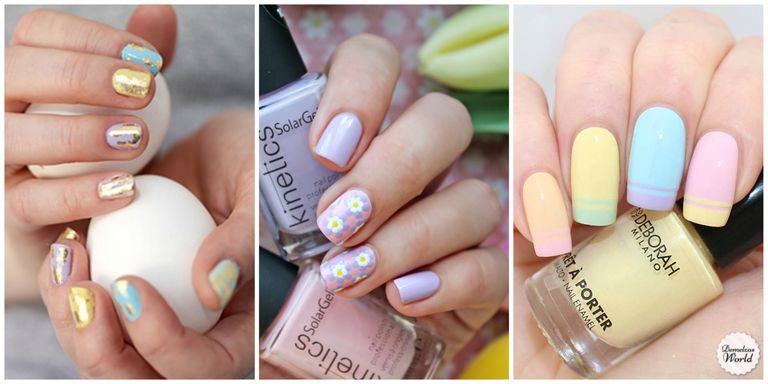 easter nail designs - 10 Cute Easter Nail Designs 2018 - Easy Nail Polish Art Ideas For