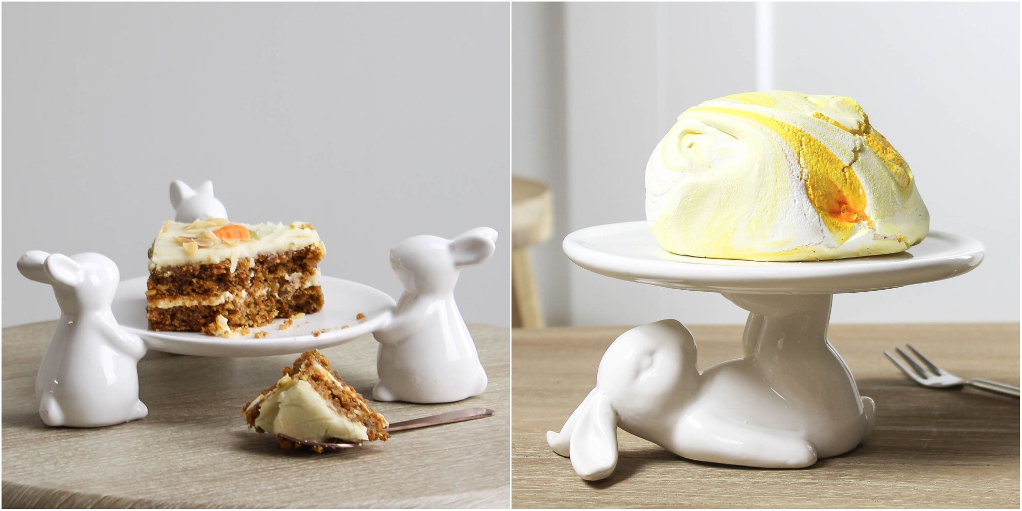 These rabbit-themed cake stands are perfect for Easter