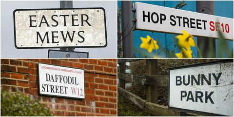 Easter street names - Royal Mail