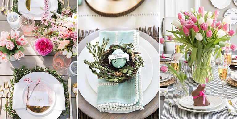 40 easter table decorations centerpieces for easter for Easter dinner table setting ideas