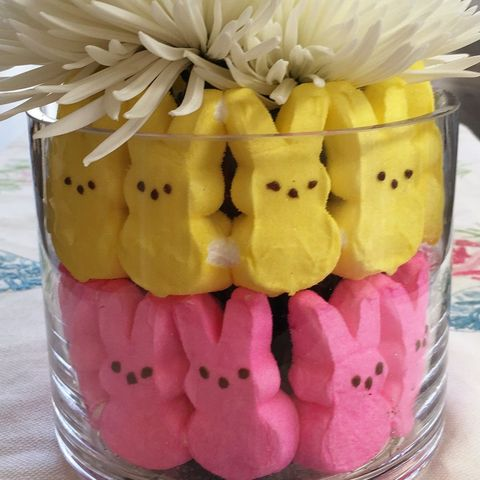 easter table decorations peeps floral arangement