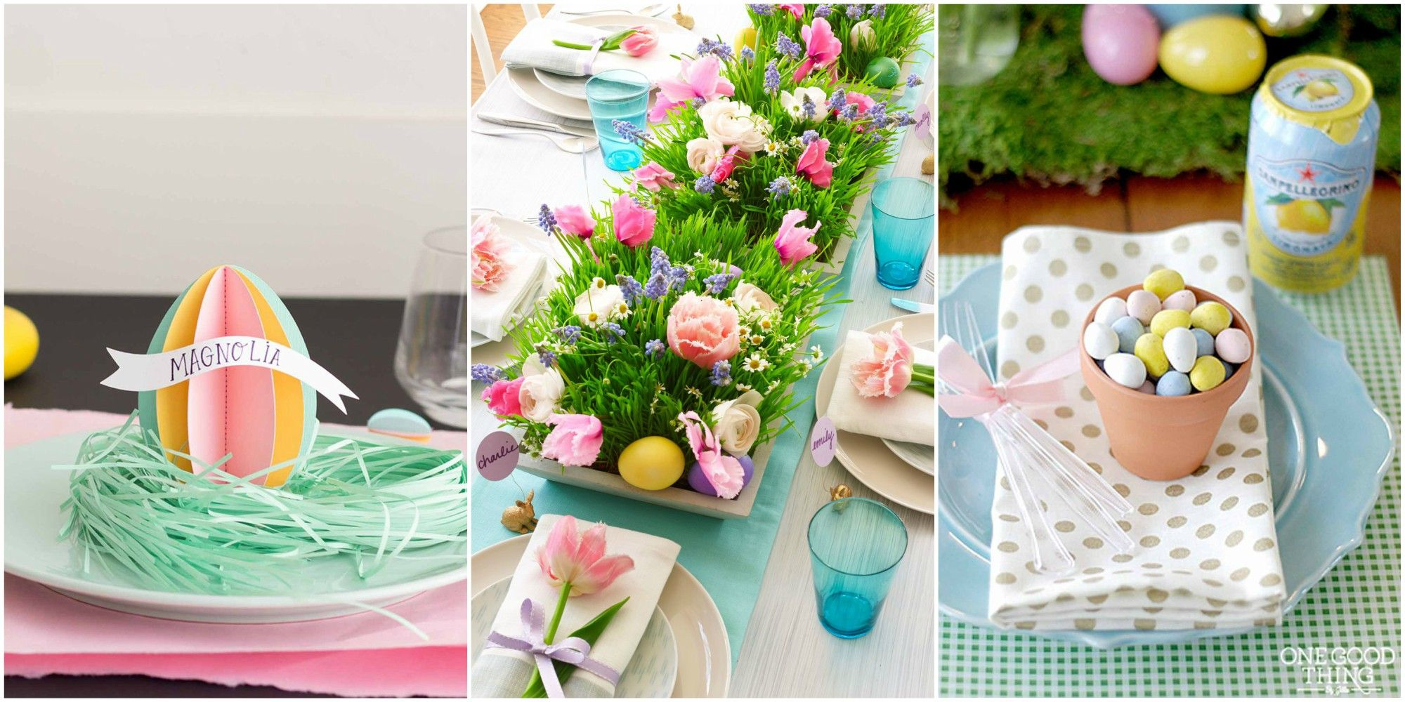 easter brunch table  sc 1 st  Womanu0027s Day & 24 Easter Table Decorations - Table Decor Ideas for Easter Brunch