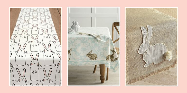 10 best easter table runner and tablecloths cute table coverings easter table runner negle Image collections