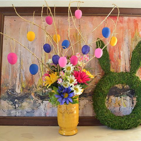 easter tree diy bright floral