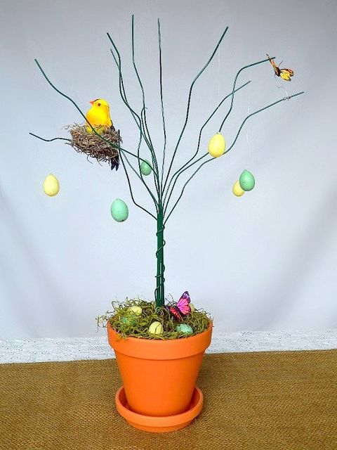 easter tree diy wire