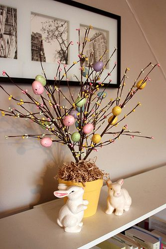 easter tree faux branch