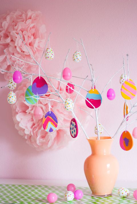 easter tree pink