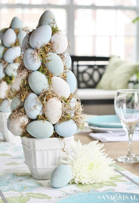 easter tree topiary